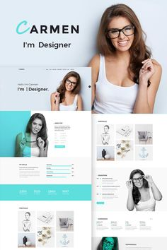 Carmen Design Portfolio WordPress Theme, Best Picture For Web Design marketing For Your Taste You are looking for something, and it is going to tell you ex Site Web Design, Graphisches Design, Wordpress Website Design, Wordpress Theme Design, Design Blog, Design Ideas, Web Wordpress, Blog Designs, Wordpress Template