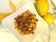 Rosemary, Garlic, and Lemon Potatoes, quick, easy and delicious side, by Lazy Girl Dinners