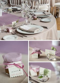 Déco by FéeLicité Photo Raphael Melka Déco de table, parme Décoration de mariage romantique chic à la Cour de Honau