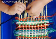 Africa Craft - Ethiopia weaving craft for kids (geography, Africa, homeschool, preschool)