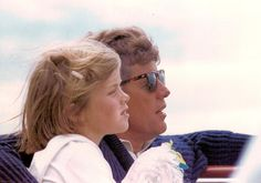 Summer of 1963 - Caroline and her father sailing off Hyannis Port.