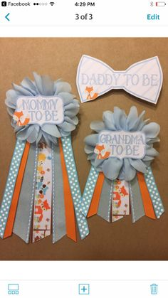 www.afalasca.etsy.com Custom baby Shower Pins mommy to be pin mommy to be corsage daddy to be Baby Shower gift