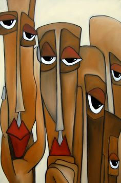 Decision Makers - Abstract Pop Art by Fidostudio Canvas Print / Canvas Art by Tom Fedro - Fidostudio Contemporary Abstract Art, Modern Art, Wall Art Prints, Fine Art Prints, Framed Prints, Canvas Prints, Buy Prints, Framed Wall, Pop Art Collage