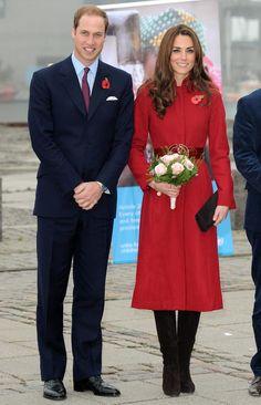 kate middleton - red l.k. bennett coat. Kate wore the coat for Poppy Remembrance Day in London on November 7, 2013