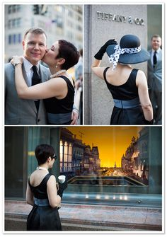 Breakfast at Tiffany's Engagement Session - no need for engagement shoot but for a themed couple session *want*