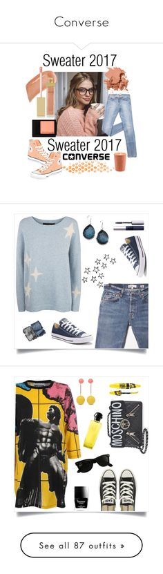 """""""Converse"""" by tina-pieterse ❤ liked on Polyvore featuring Converse, AERIN, Bobbi Brown Cosmetics, Maybelline, Sweater, Sweatshirt, RE/DONE, 360 Sweater, Ippolita and NARS Cosmetics"""