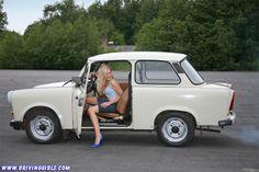 The Trabant is a car that was produced by former East German auto maker VEB Sachsenring Automobilwerke Zwickau in Zwickau, Saxony Retro Cars, Vintage Cars, Fiat 500, East German Car, Ddr Brd, Carros Retro, Ifa Berlin, Volkswagen, Small Cars