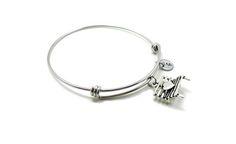 Heart Bench Bangle Love Charm Bench Bracelet Expandable