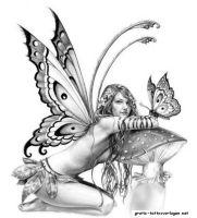 Fairy art sketch, white pencil on black paper. Description from pinterest.com…