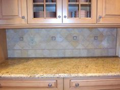 backsplash with mosaic
