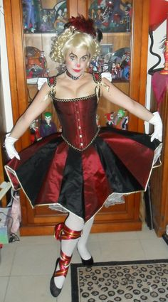 victorian circus acrobat clown corset dress. $475.00, via Etsy.