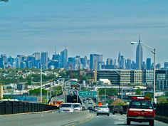 NYC from the Pulaski Skyway in Jersey this afternoon....... 4.17.12