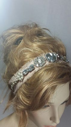 Jute headbands with bold crystal, glass and pearl embellishments from Tessharrissdesigns.com