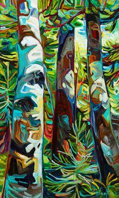 At the Edge of the Bay Julia Veenstra Studio #tree #art