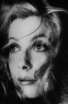 Catherine Deneuve by Richard Avedon Photography, Vogue, December, 1968