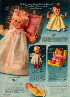 1972 Advertisement Doll Mattel Tender Love Baby Tweaks Rocker Lullaby Tearful | eBay