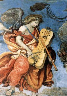 Filippino Lippi - Assunzione della Vergine, dettaglio - affresco - 1488-1493 - parete di fondo Cappella Carafa, Basilica di Santa Maria sopra Minerva, Roma