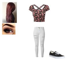 """Untitled #306"" by alanna-66 ❤ liked on Polyvore featuring Frame Denim and Vans"