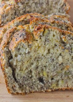 Nut free banana bread that's full of chia seeds, fiber and flavor for a healthy snack! Banana Chia Bread!