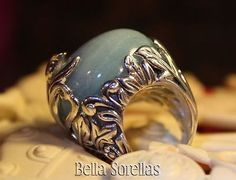 SeidenGang Sterling Silver Bold Gemstone Quartz Leaf and Floral Design QVC Sz 5 - http://elegant.designerjewelrygalleria.com/seidengang/seidengang-sterling-silver-bold-gemstone-quartz-leaf-and-floral-design-qvc-sz-5/