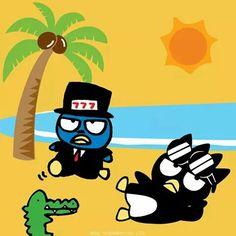 Traje de playa bats maru