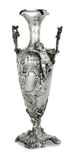 A Fabergé silver vase, Moscow, circa 1899.