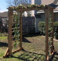 Image detail for -Front garden arbor, crape myrtle and self sowing garden 4-2011-1