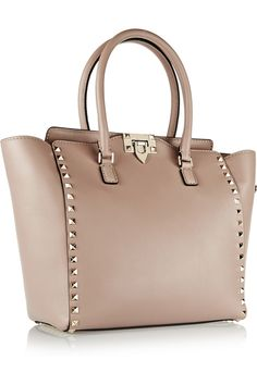 Valentino | The Rockstud medium leather tote | net-a-port...