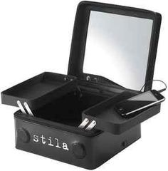 Stila Costmetics The Makeup Music Player with Eye Shadow, Lip Liner, & Lip Stain by Stila Costmetics. $68.95. Includes: lip liner-contour no. 4, lip rouge liquid lip stain-baci/beam, eye shadow-charm/shore, eye shadow refillable compact, makeup player, pouch, and batteries.. Stila Costmetics the makeup player that plays plugs into mp3 music device.. Easy instructions for operating.. Case has two movable slots, speakers along the body and a mirror.. This item is perfect...