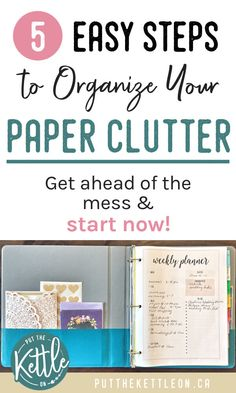 Organize Paper Clutter at Home in 5 Simple Steps