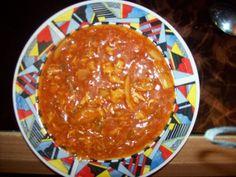 Sauer-Scharf-Suppe (Pekingsuppe oder Shangsu-Suppe) Rezept - Rezepte kochen (zusätzlich mit Paprika, Sojasprossen, Mangochutney, und Süß-sauer sauce angemacht.)