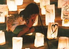 Luminaria at Relay for Life. I cry every time.
