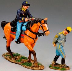 Civil War Union CW063 Prisoner Escort - Made by King and Country Military Miniatures and Models. Factory made, hand assembled, painted and boxed in a padded decorative box. Excellent gift for the enthusiast.