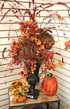 fall decoration. find something like this to go on my tall candle sticks.