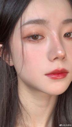 Makeup Korean Style, Asian Makeup Looks, Korean Natural Makeup, Korean Eye Makeup, Soft Makeup, Kiss Makeup, Pretty Makeup, Cute Makeup, Beauty Makeup