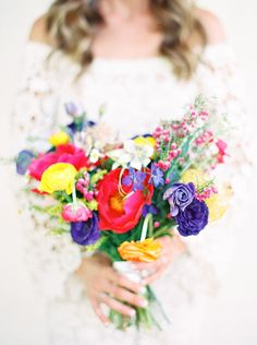 colorful bridal bouquet for a spring wedding - Melissa Jill Photography