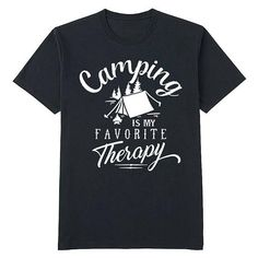Camping is my favorite therapy shirt hiking fishing camper
