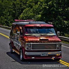 """The Eagle"" custom 70's show van"