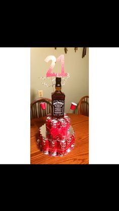 Jack and coke beer cake for those non beer lovers! My boyfriend loved it!