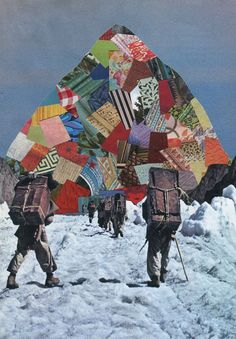 kieransperring:      The Climb. (Handmade Collage)  Prints available here.