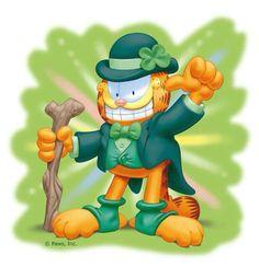 St. Patrick's Day Garfield!