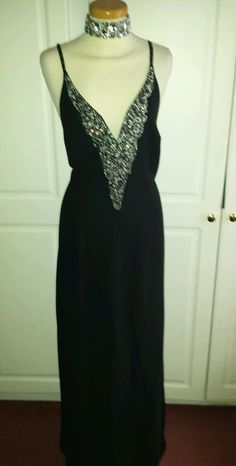 Absolutely Stunning Diamante Black Maxi Evening Dress sz 14 NEXT BNWT Cost £120 in Clothes, Shoes & Accessories, Women's Clothing, Dresses | eBay!