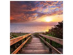 Beach Decor for Fisherman Wooden Bridge Panoramic Sunset Ocean View Nature Art Picture Landscape Seascape Marine House Wall Hanging Tapestry Dorm Bedroom Living Room Decorations, Brown Orange Green - List for Home and Garden Products Dorm Tapestry, Tapestry Wall Hanging, Background For Photography, Photography Backdrops, Metal Walls, Metal Wall Art, Thing 1, Wooden Stairs, House Wall