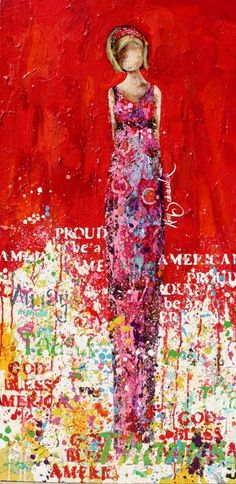 """""""Don't Forget to Stand with Pride"""", mixed media art by Kim Schuessler http://kimschuessler.com/?cat=3"""