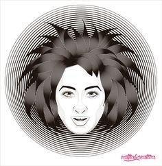 cathakreatica: #Retrato #vector Ai# #lineas