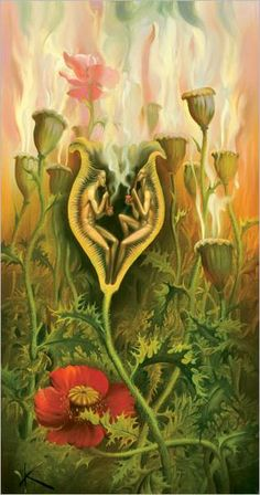 Title : Opium Lovers. I'm a fan of the works of Vladimir Kush. You will see quite a bit of his work on this board.