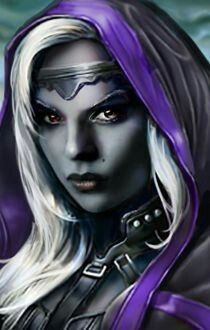 Image result for black hair purple eyes drow dnd