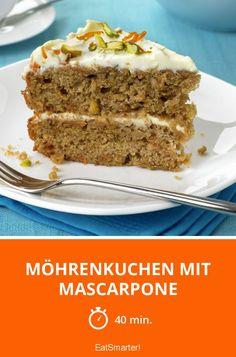 Möhrenkuchen mit Mascarpone - smarter - Zeit: 40 Min. | eatsmarter.de