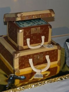Top Luggage Cakes - Top Cakes - Cake Central Luggage Cake, Lv Luggage, Louis Vuitton Luggage, Hat Box Cake, Bag Cake, Cupcake Cookies, Cupcakes, Pastry Art, Cake Central