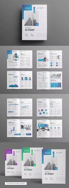 The Annual Report 18 Pages by Creativity-Design on Envato Elements Annual Report Layout, Annual Report Covers, Annual Reports, Annual Report Sample, Book Design Layout, Graphic Design Layouts, Brochure Cover Design, Csr Report, Report Design Template